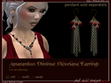 Amaranthus Diminue Victoriana Earrings