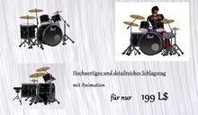 Schlagzeug mit Animation / drums with animation