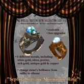 Sephira Solitaire Moonstone Ring (unisex)
