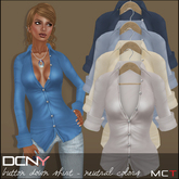 DCNY Button Down Shirts Neutrals Colors Pack, 4 Shirts