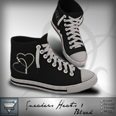 Viviane Fashion - Sneakers Heart1 Black