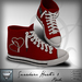 Viviane Fashion - Sneakers Heart1 Red