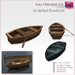 %50SUMMERSALE Full Perm Sculpted Rowboat with oar Builder's Kit Set FULL PERM with Textures