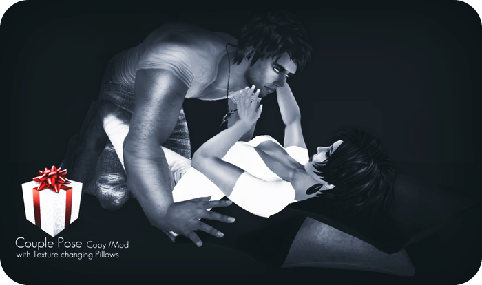 [LA] LOSTANGEL:  A romantic Couple Pose with texture changing pillows [GIFT]