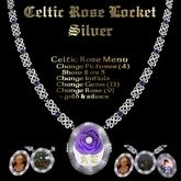 Ashira's Celtic Rose Locket - Silver