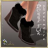 AlaFolie DONNA fur noir shoes