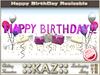 :: KAZ:: HAPPY BIRTHDAY sculpté TEXTE ROSEvec déco, RESIZE MENU, Décoration anniversaire, REZZDAY
