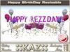 ::KAZ:: HAPPY REZZDAY sculpted TEXT PINK with deco,  RESIZE MENU, BIRTHDAY DECORATION, REZZDAY