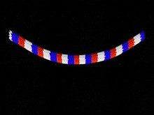 Garland Blue White Red