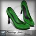 Viviane Fashion - Cloverleaf Heels Green