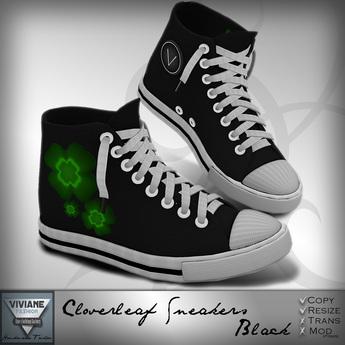 Viviane Fashion - Cloverleaf Sneakers Black