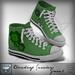 Viviane Fashion - Cloverleaf Sneakers Green1