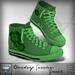 Viviane Fashion - Cloverleaf Sneakers Green2