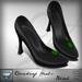 Viviane Fashion - Cloverleaf Heels Black