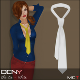 DCNY The Tie in White