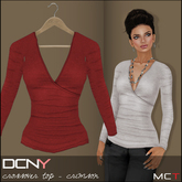 DCNY Crossover Top in Crimson