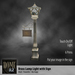 Home by JLZ- Brass Lamp Light with sign holder
