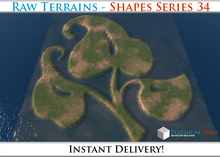 50% OFF SALE! RAW Terrain File: Shapes
