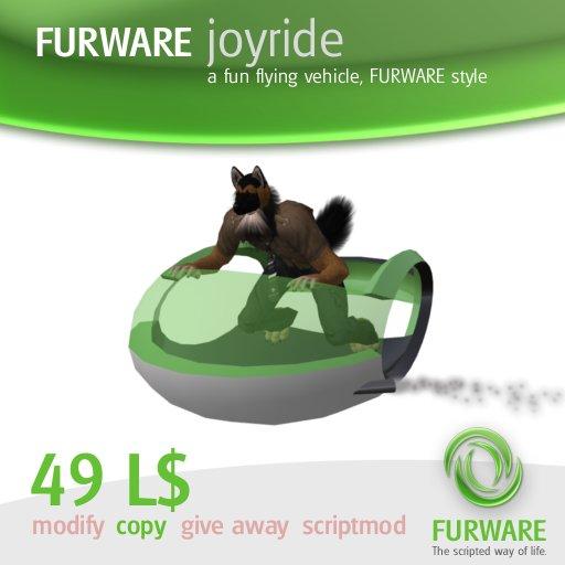 FURWARE joyride - Flying fun vehicle