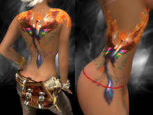 KARVED - * Fat Pack * - Phoenix - Tattoo (multi layer, multi tone)