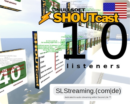 SHOUTcast server 10 listeners ONE MONTH 30 days US