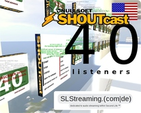 SHOUTcast server 40 listeners 24h US