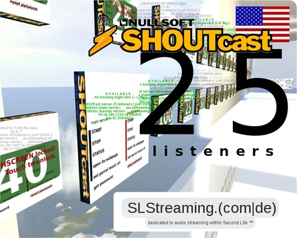 SHOUTcast server 25 listeners ONE MONTH 30 days US