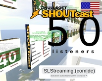 SHOUTcast server 50 listeners ONE MONTH 30 days US