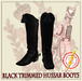Hussar Style - Hussar Boots Black Trimmed