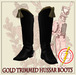 Hussar Style - Hussar Boots Gold Trimmed