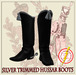 Hussar Style - Hussar Boots Silver Trimmed