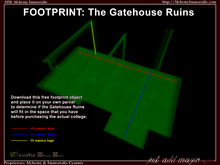 [DEMO] Gatehouse Ruins Footprint: 40m wide x 25m deep x 15m high