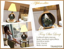 Aphrodite Feng Shui Lamp TRANSFER (boxed)
