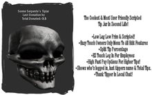 ** SALE ONLY 1 L** Skull Tip Jar With Easy Touch Menu Config * Copyable *