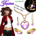 *Fig* Heart Necklace Jewelry Set tagSteampunk