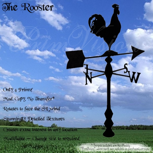 *PV* Rooster Weather Vane