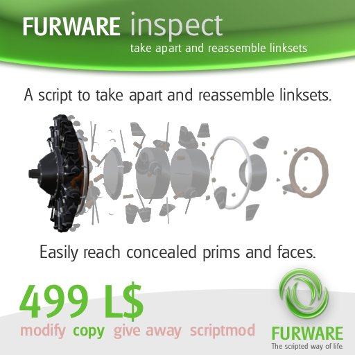 FURWARE inspect - Take apart and reassemble linksets