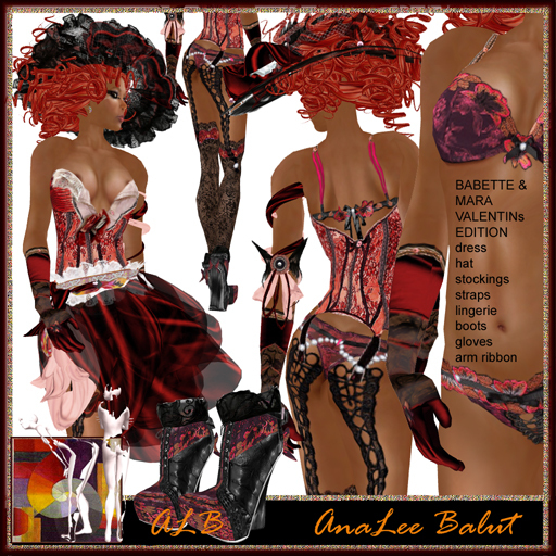 ALB VALENTINE`s mix dress SPECIAL by AnaLee Balut