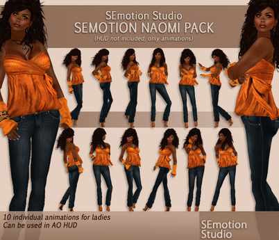 SEmotion Naomi Animation Pack - 10 standing animations