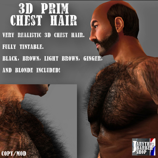 3D Prim Chest Hair