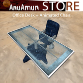 Blue desk and office chair set