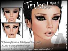 - DAMNED -  Tribal Make up + base hair / 4 Versions
