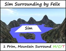 sim surrounding by felix  Mountain surround Off Sim ( for landscaping cave grotto waterfall forest outsim )