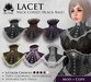 [ROSAL] LACET Neck Corset - Multi-Color with Black Base