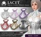 [ROSAL] LACET Neck Corset - Multi-Color with White Base