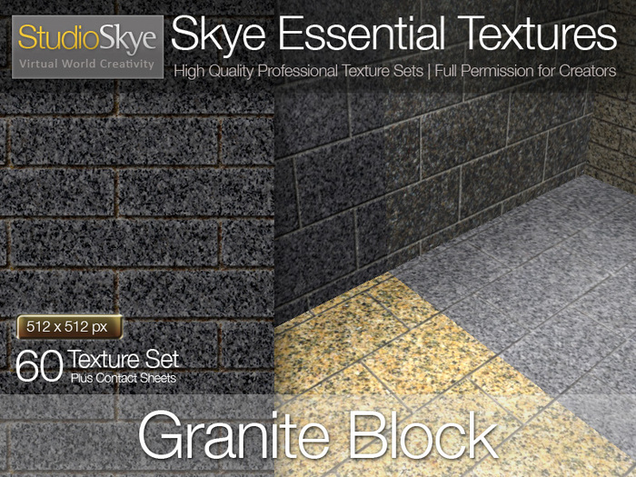 Granite Block (wall or floor) - Skye Essential Full Perms Textures