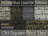 *Skye Essential Textures - 44 Old Square Slate Roof Tiles -  Full Perms Textures