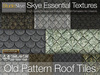 *Skye Essential Textures - 44 Old Pattern Slate Roof Tiles -  Full Perms Textures