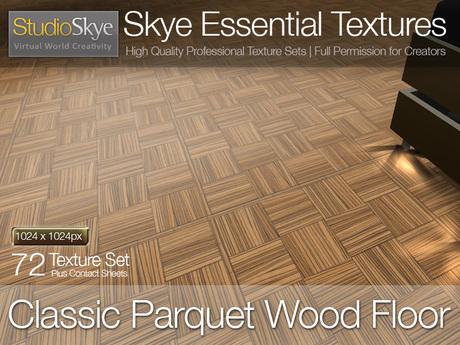 Classic Parquet Wood Floor - Skye Essential - 72 Full Perms Parquet Floor Textures