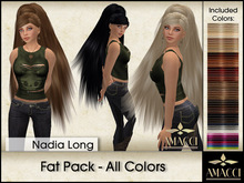 Amacci Hair ~ Nadia Long - Fat Pack All Colors